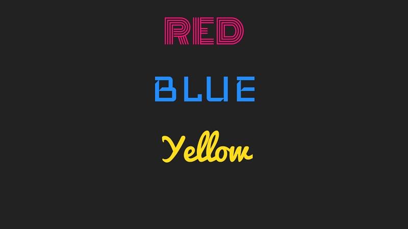 Typography Text Neon