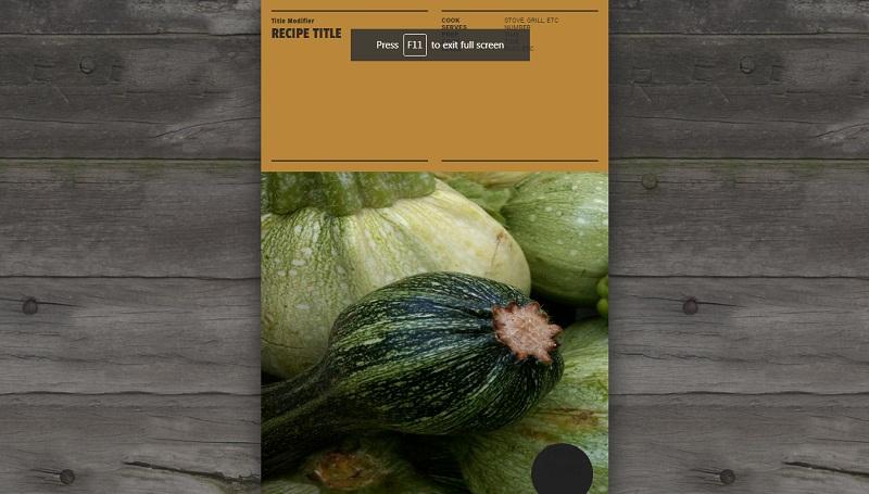 Whole Foods Recipe Card