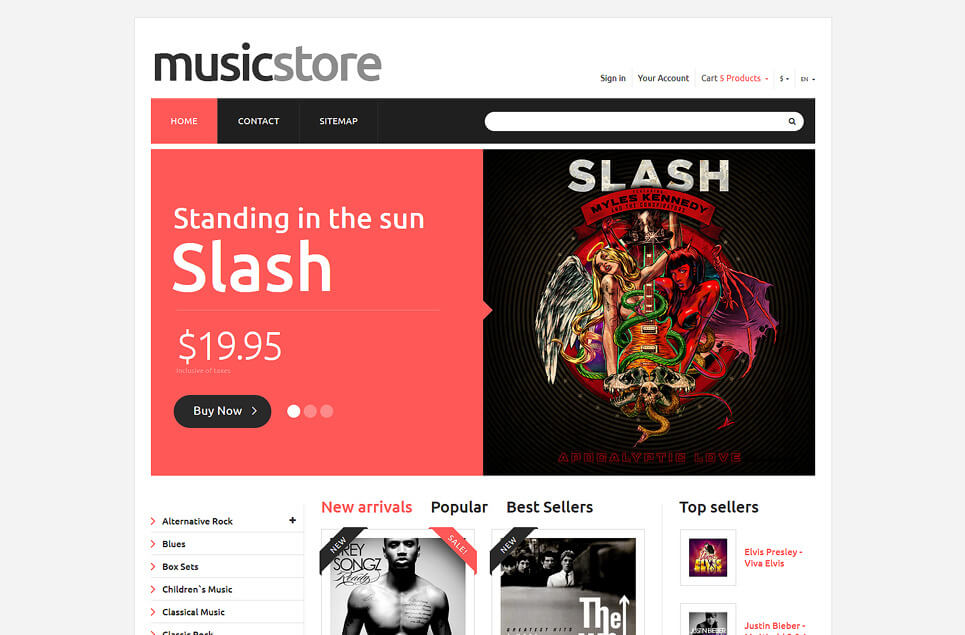 All Tastes Music PrestaShop Theme