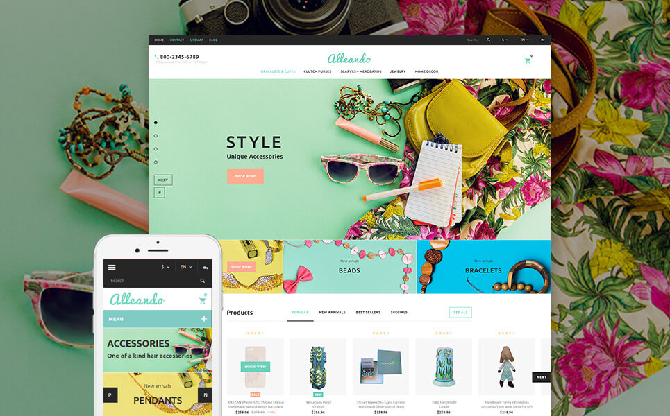 Alleando - Decor Accessories Responsive PrestaShop Theme