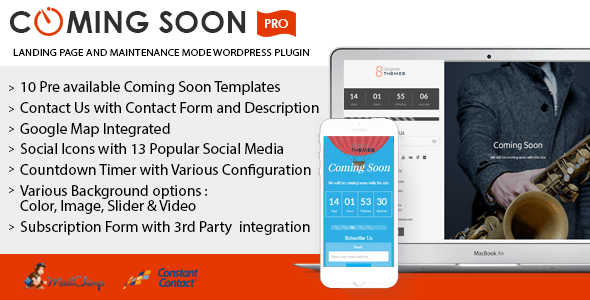 Coming Soon Landing Page and Maintenance Mode WordPress Plugin