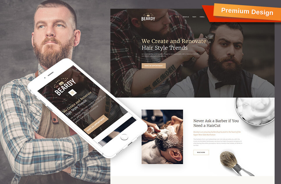 Beardy - Hair Care & Hair Styling Moto CMS 3 Template