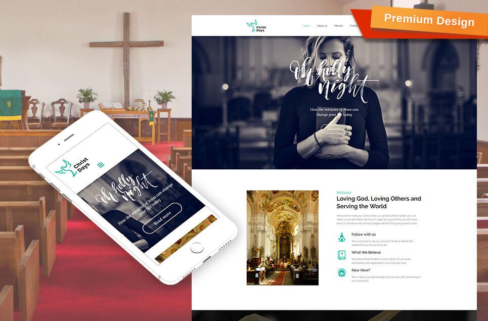 Christ Days - Religious Premium Moto CMS 3 Template