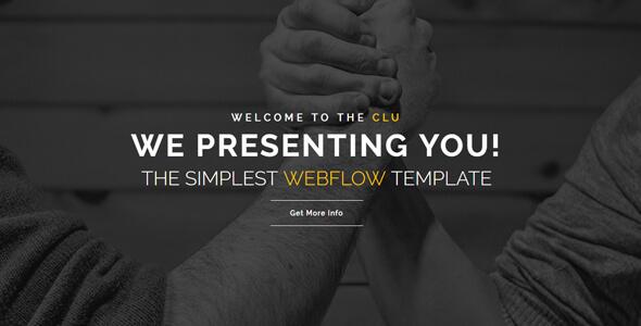 Clu - Creative Webflow Template