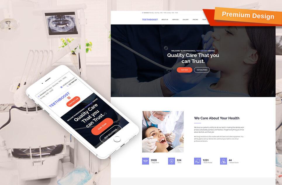 Dentistry Premium Moto CMS 3 Template
