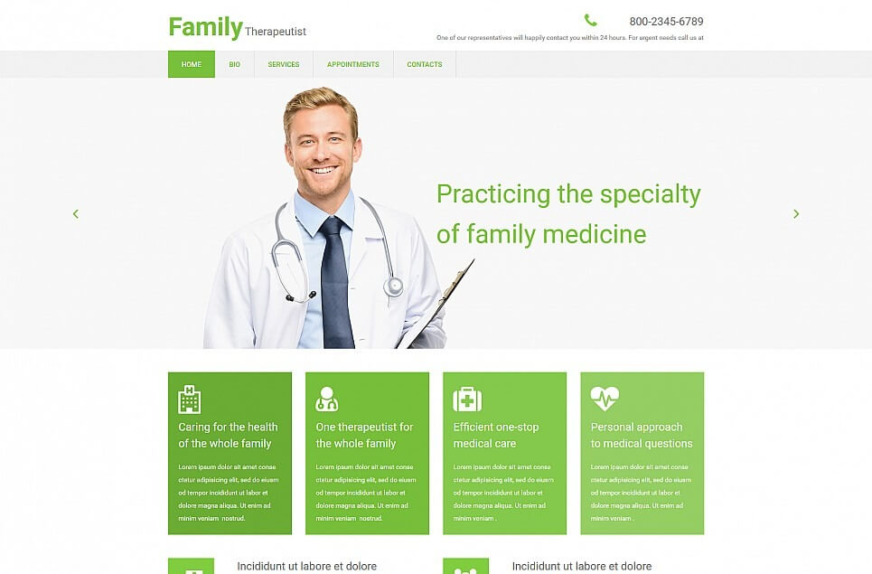 Doctor Responsive Moto CMS 3 Template
