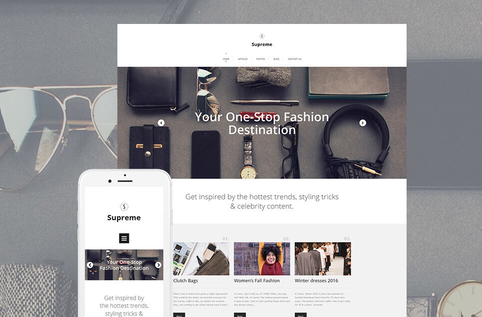 Fashion Responsive Moto CMS 3 Template