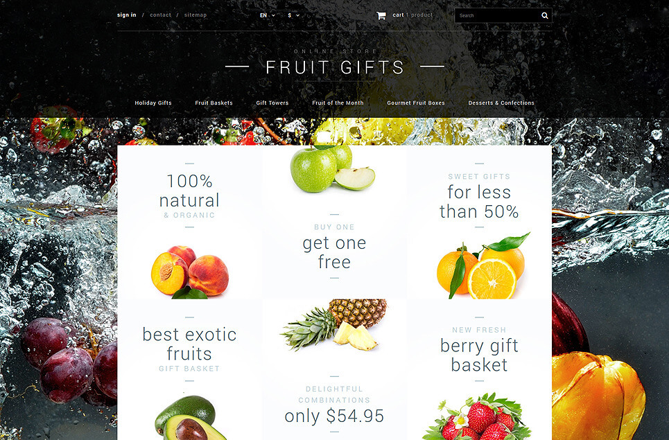 Fruit Gifts Store PrestaShop Theme
