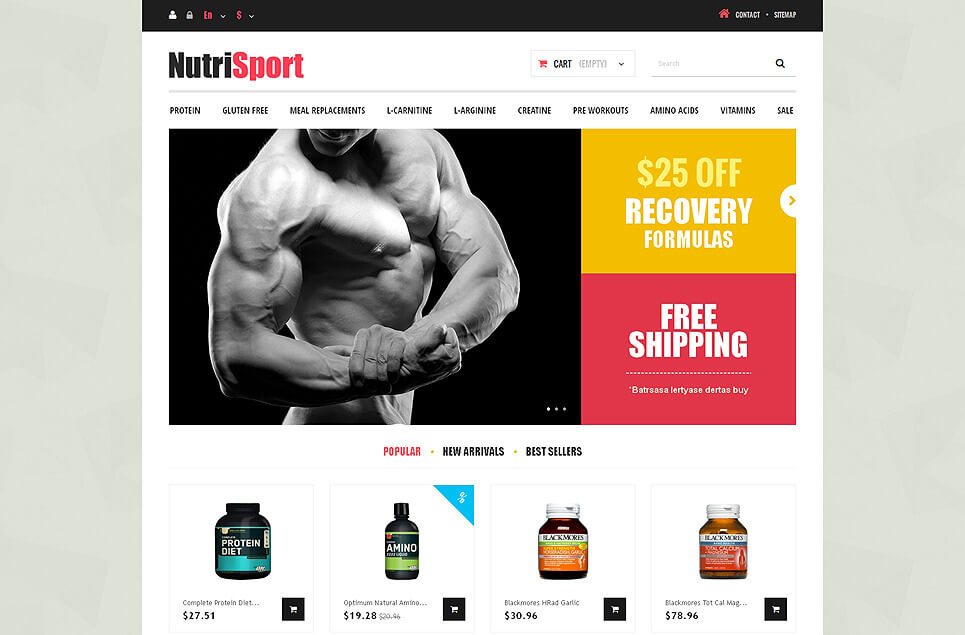 Gaining Mass PrestaShop Theme