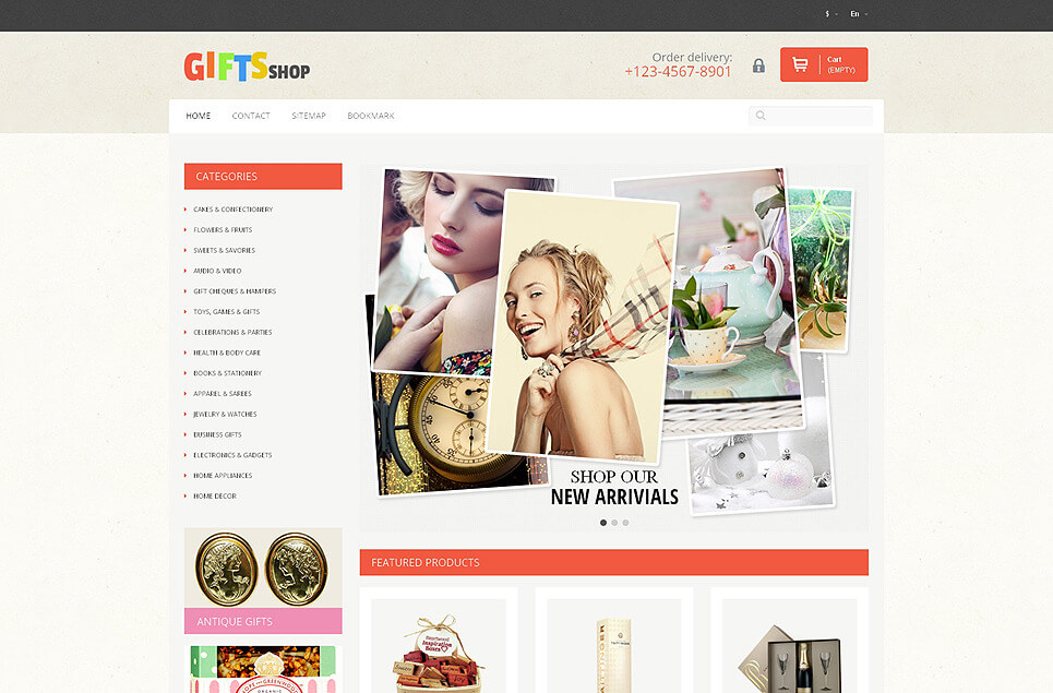 Gifts for Every Occasion PrestaShop Theme