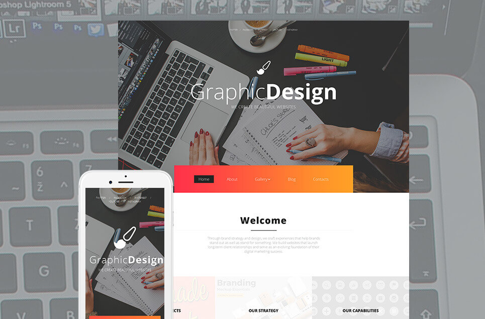 Graphic Design Moto CMS 3 Template