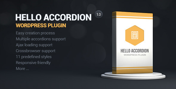 Hello Accordion WordPress Widget