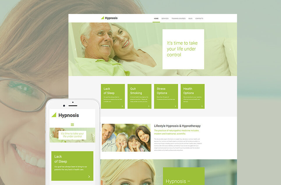 Hypnosis Responsive Moto CMS 3 Template