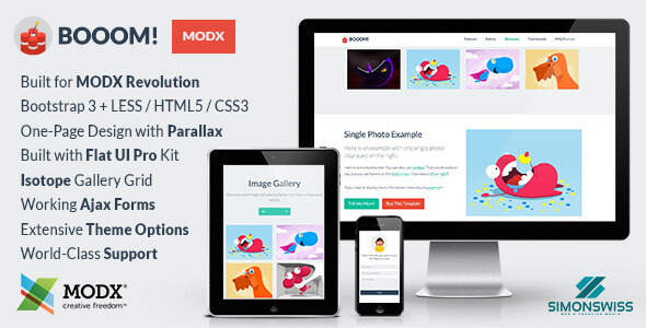 Booom! - Bootstrap Flat UI Pro Theme For MODX