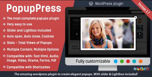 PopupPress - Popups with Slider & Lightbox for WordPress