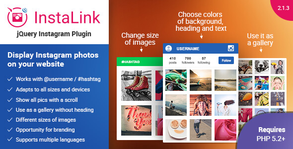Instagram Plugin - jQuery Widget for Instagram