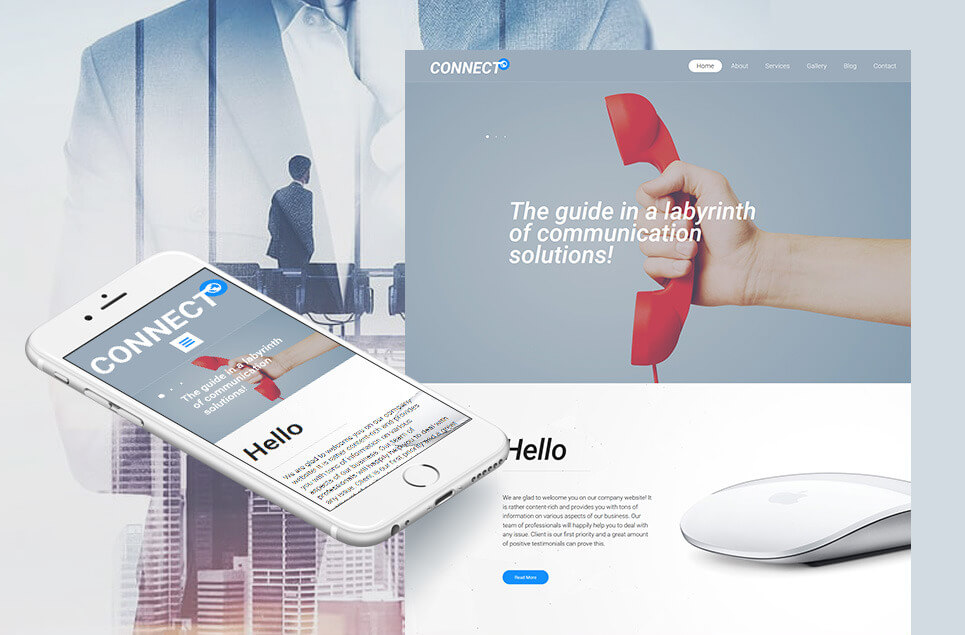 ISP Responsive Moto CMS 3 Template