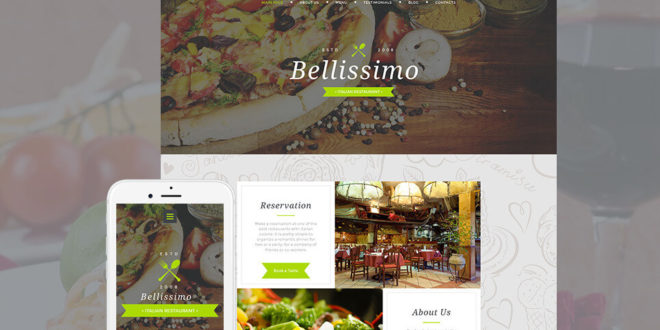 16+ Best Restaurant Moto CMS Templates of 2019