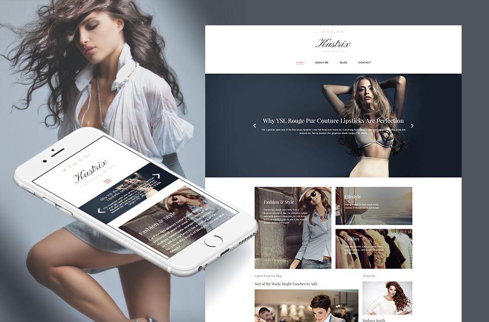 Kustrix - Fashion Responsive Moto CMS 3 Template