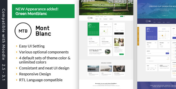 MontBlanc - Responsive Moodle Theme