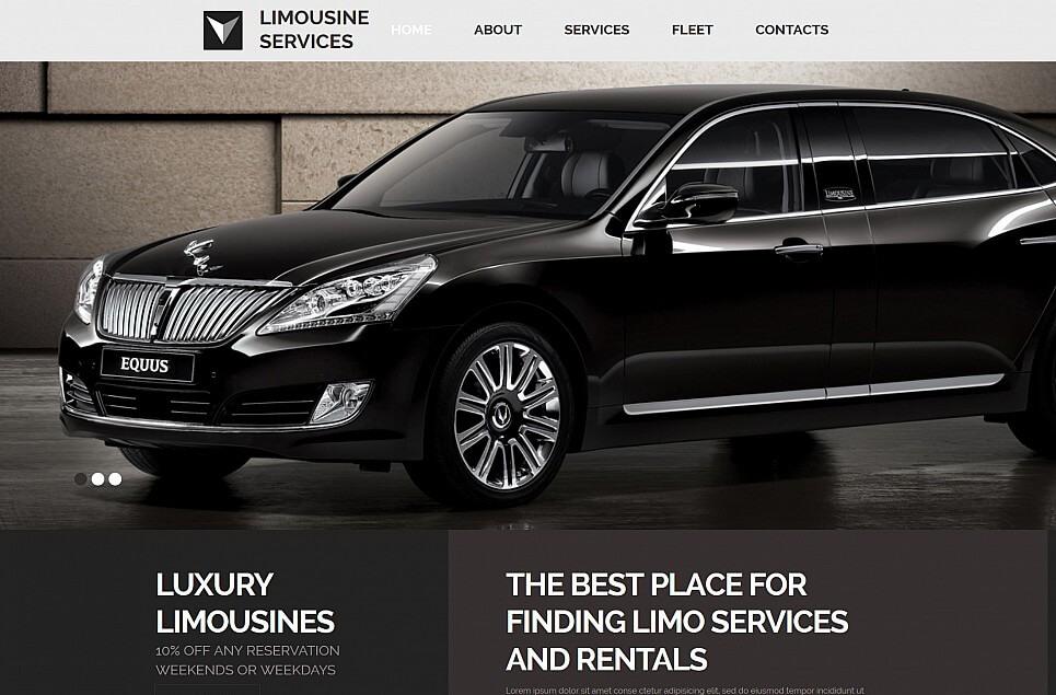 Limousine Services Responsive Moto CMS 3 Template