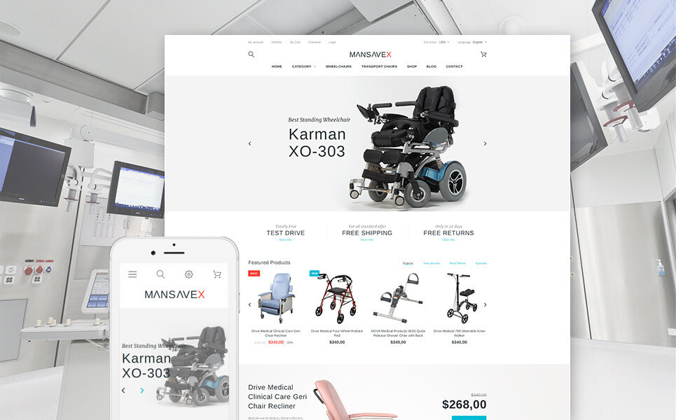 Mansavex - Medical Equipment PrestaShop Theme