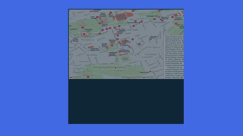 map of Edinburgh city center using jQuery