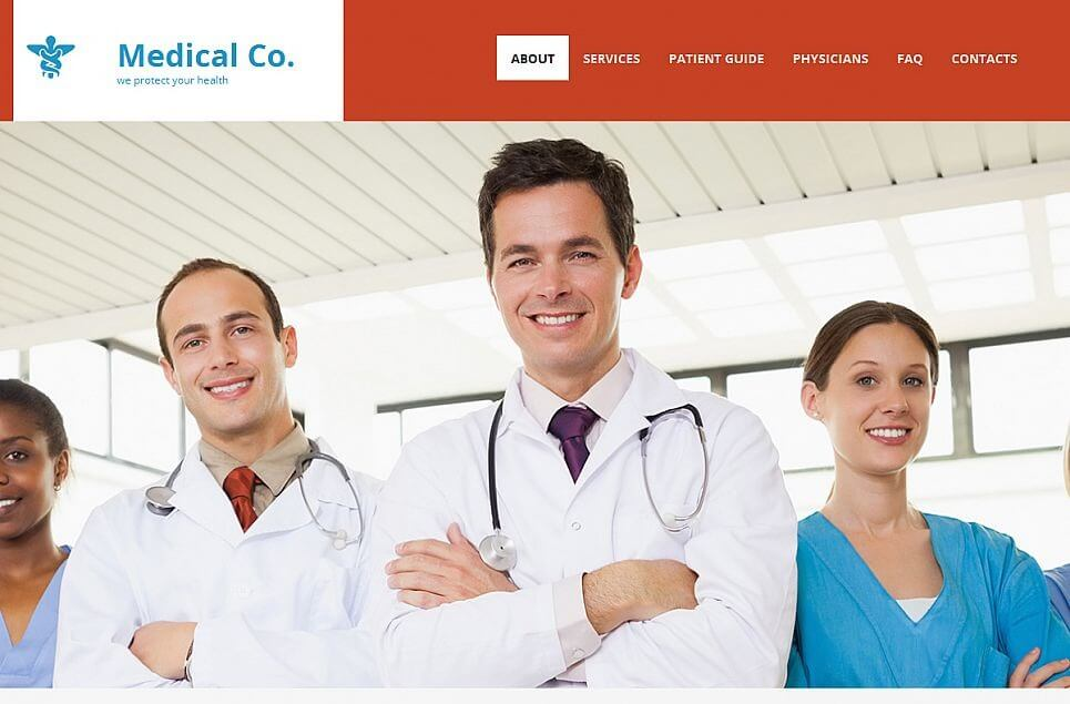 Medical Responsive Moto CMS 3 Template
