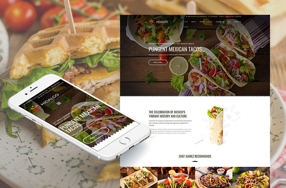Mexican Restaurant Responsive Moto CMS 3 Template