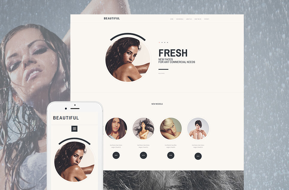 Model Agency Responsive Moto CMS 3 Template