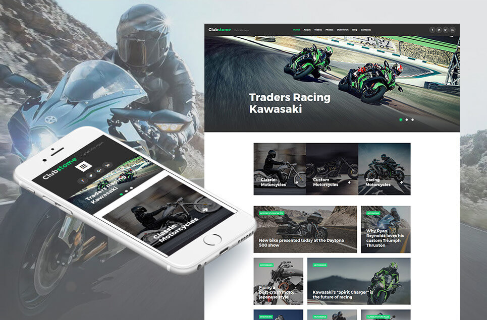 Motor Sports Responsive Moto CMS 3 Template