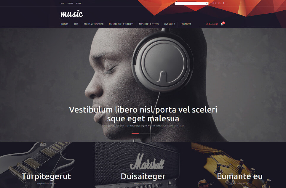Music Store PrestaShop Theme