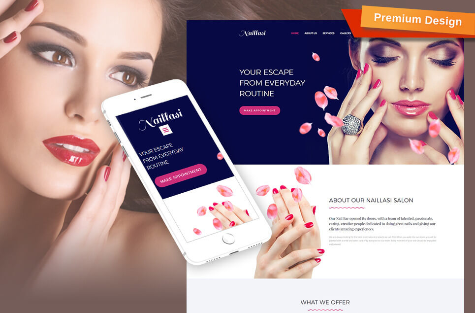 Naillasi - Manicure & Nail Supplies Premium Moto CMS 3 Template