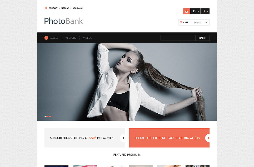 Photo and Video Content PrestaShop Theme