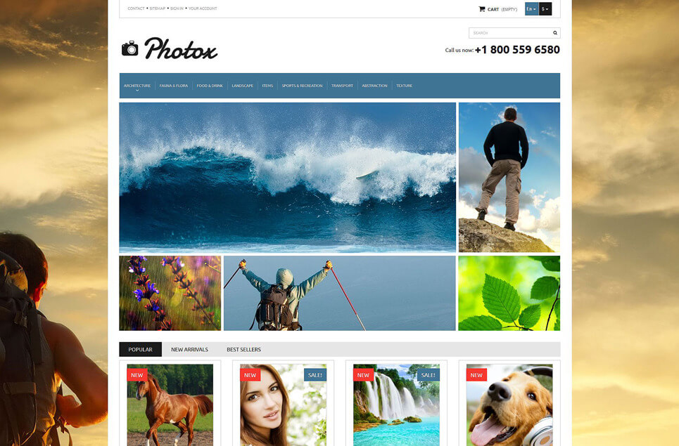Photo and Video PrestaShop Theme