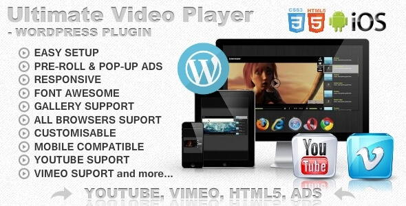 Ultimate Player with YouTube, Vimeo, Ads WP Plugin