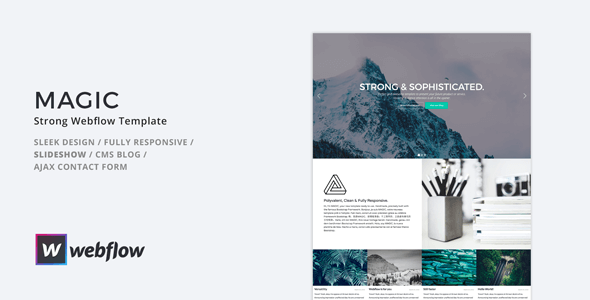 MAGIC - Strong Webflow Template