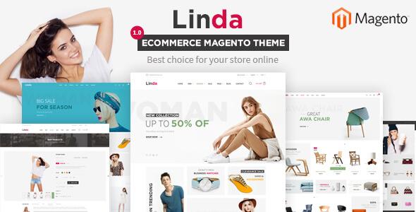 Linda - Multi Store Responsive Magento 2 Themes