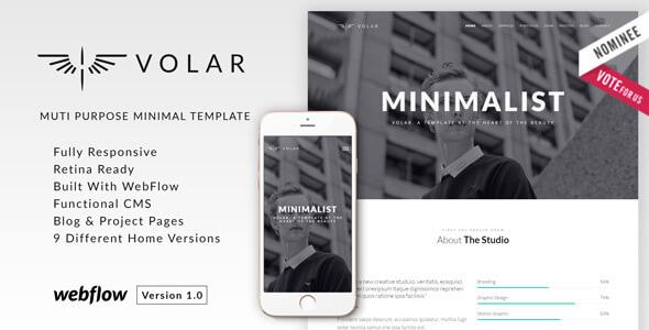 Volar | Minimal Multipurpose Webflow Theme