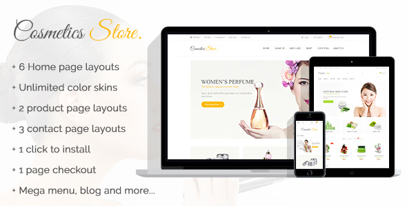 Cosmetics Store - Specific Prestashop Theme