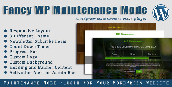 Fancy WP Maintenance Mode - WordPress Plugin