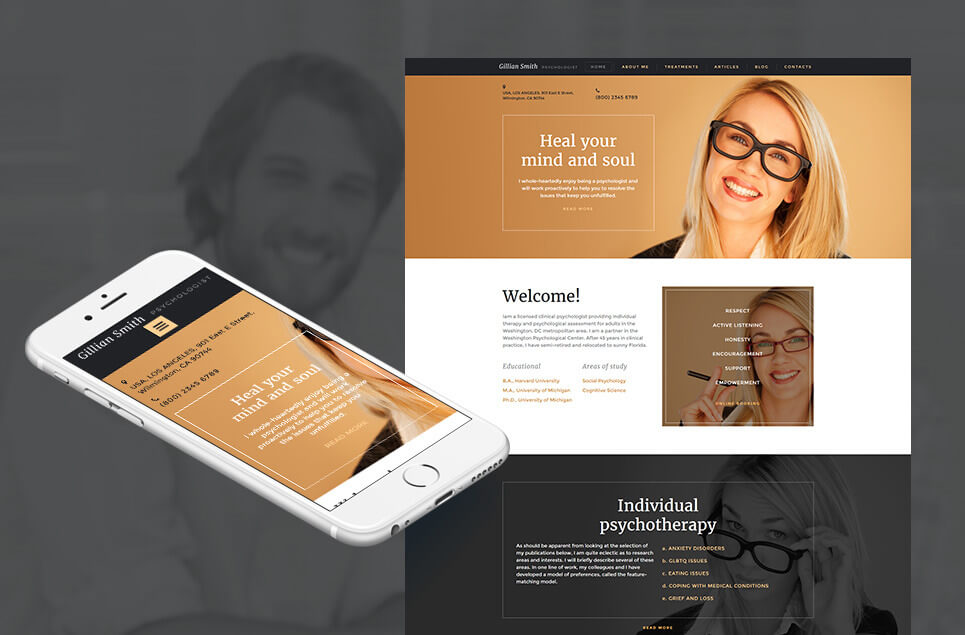 Psychologist Responsive Moto CMS 3 Template