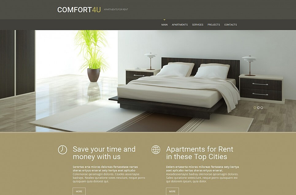 Real Estate Agency Responsive Moto CMS 3 Template