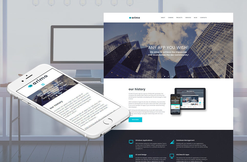 Software Company Responsive Moto CMS 3 Template