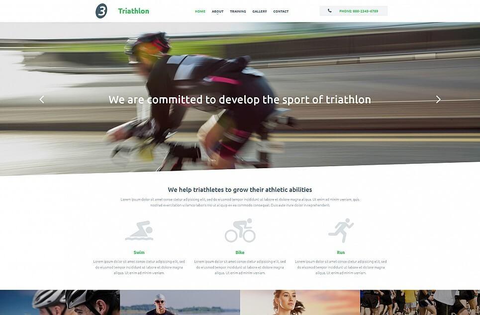 Sport Responsive Moto CMS 3 Template