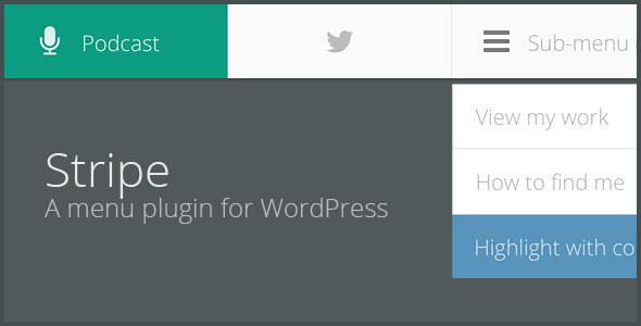 STRIPE - A lightweight menu plugin for WordPress