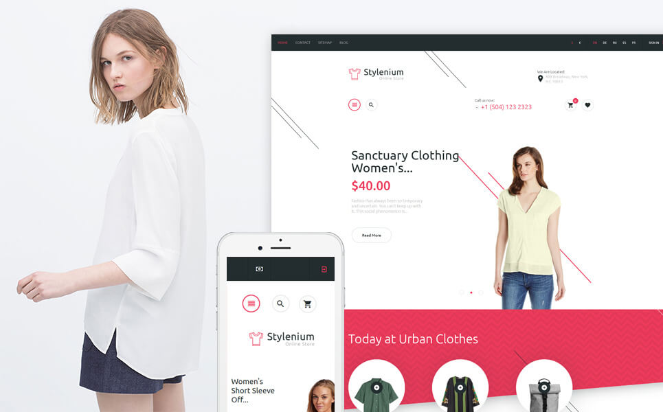 Stylenium - Fashion Store PrestaShop Theme