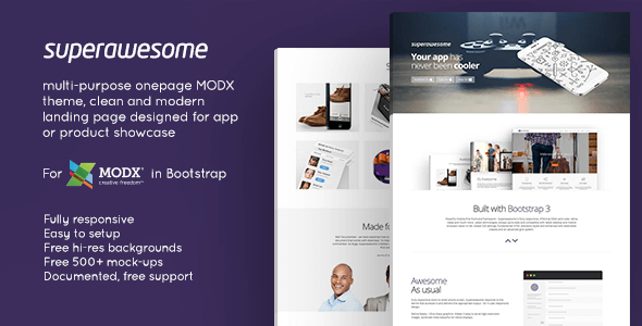 Superawesome - Responsive Multi-Purpose MODx Theme