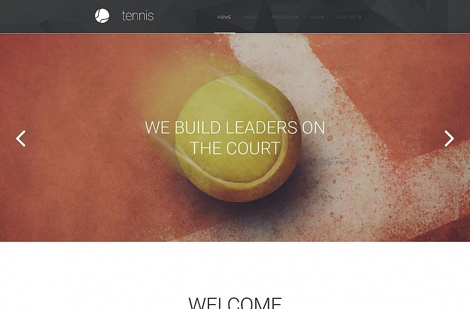 Tennis Responsive Moto CMS 3 Template