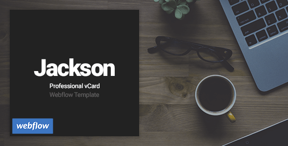 Jackson - Professional vCard Webflow Template